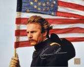 Kevin Costner Autographed Dances With Wolves American Flag 8x10 Photo
