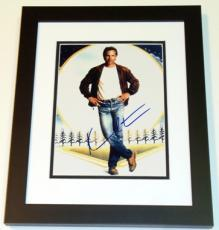 "Kevin Costner Autographed ""Field of Dreams"" 8x10 Photo BLACK CUSTOM FRAME"
