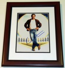 "Kevin Costner Autographed ""Field of Dreams"" 8x10 Photo MAHOGANY CUSTOM FRAME"