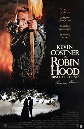Kevin Costner Autographed Robin Hood 27x40 Movie Poster