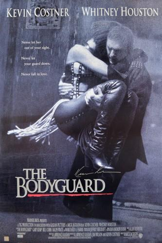 Kevin Costner Autographed The Bodyguard 27x40 Movie Poster