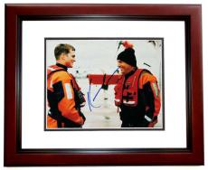Kevin Costner Autographed THE GUARDIAN 11x14 Photo MAHOGANY CUSTOM FRAME with Ashton Kutcher