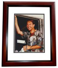 Kevin Costner Autographed TIN CUP 8x10 Photo MAHOGANY CUSTOM FRAME