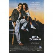 "Kevin Costner Bull Durham Autographed 12"" x 18"" Movie Poster - BAS"
