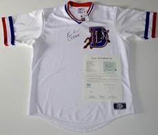 "Kevin Costner Bull Durham Signed ""crash"" Durham Bulls Jersey Jsa Loa Y73222"