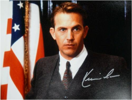 Kevin Costner Hand Signed Autographed 11x14 Photo USA Flag Private Signing OA