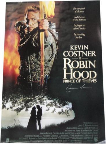 Kevin Costner Hand Signed Autographed Huge 27x40 Movie Poster Robin Hood W/ COA