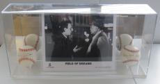 Kevin Costner & James Earl Jones Signed Field of Dreams Baseball Display PSA/DNA