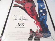 Kevin Costner Olver Stone Signed Autographed Framed Poster Jfk Paas Certified