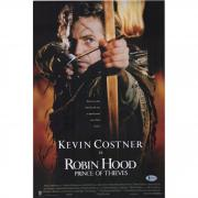 """Kevin Costner Robin Hood: Prince Of Thieves Autographed 12"""" x 18"""" Movie Poster - BAS"""