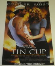 Kevin Costner Signed 12x18 Photo Tin Cup Poster Authentic Autograph Beckett Coa