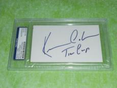 Kevin Costner Signed 3 X 5 Index Card Autographed In-person Psa/dna Slabbed