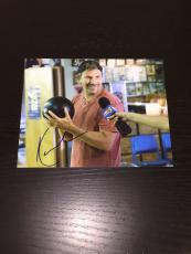 KEVIN COSTNER SIGNED AUTOGRAPH VINTAGE SCENE FUNNY BOWLING NEW 8x10 PHOTO COA