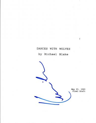 Kevin Costner Signed Autographed DANCES WITH WOLVES Movie Script COA VD