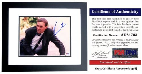 Kevin Costner Signed - Autographed The Bodyguard 8x10 inch Photo BLACK CUSTOM FRAME - PSA/DNA Certificate of Authenticity (COA)
