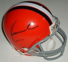 KEVIN COSTNER signed *CLEVELAND BROWNS* mini helmet DRAFT DAY W/COA Sonny Weaver