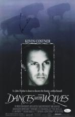 Kevin Costner Signed Dances With Wolves 11x17 Movie Poster Jsa Coa N37859