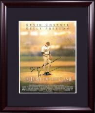 Kevin Costner signed for the love of game 8x10 movie photo framed auto INS COA