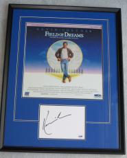 KEVIN COSTNER Signed & FRAMED FIELD OF DREAMS Baseball DISPLAY Piece PSA DNA
