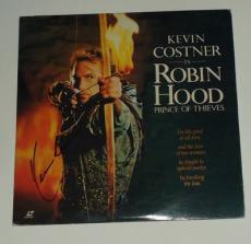 KEVIN COSTNER signed *ROBIN HOOD* LASER DISC MOVIE COA