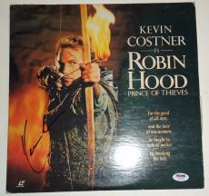 Kevin Costner signed *Robin Hood* Movie laser disc PSA/DNA Authenticated Y72792