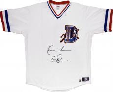 Kevin Costner & Susan Sarandon Autographed Bull Durham Baseball Jersey