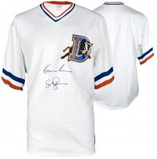 Kevin Costner & Susan Sarandon Autographed Bull Durham Baseball Jersey - Beckett COA