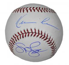 Kevin Costner & Susan Sarandon Autographed MLB Baseball