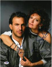 Kevin Costner & Susan Sarandon Signed Bill Durham 11x14 Photo PSA/DNA #AB09056