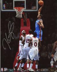 """Kevin Durant Oklahoma City Thunder Autographed 08"""" x 10"""" VS Atlanta Photograph"""