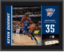 "Oklahoma City Thunder Kevin Durant 10"" x 13"" Sublimated Plaque - Mounted Memories"