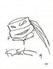 Kevin Eastman SIGNED 11x14 WRITER Teenage Mutant Ninja Turtles Sketch PSA/DNA