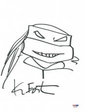 Kevin Eastman Signed 9X12 Ninja Turtles Sketch PSA/DNA #X31599