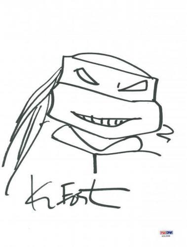 Kevin Eastman Signed 9X12 Ninja Turtles Sketch PSA/DNA #X31599