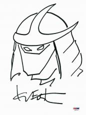 Kevin Eastman Signed 9x12 Ninja Turtles Sketch PSA/DNA #X80292