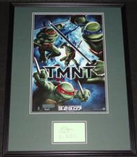 Kevin Eastman Signed Framed 18x24 Sketch & TMNT Poster Display
