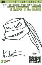 Kevin Eastman Signed Teenage Mutant Ninja Turtles Sketch On Comic PSA #X31597