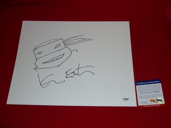 KEVIN EASTMAN teenage mutant  ninja turtle  signed PSA/DNA 11X14  sketch 2