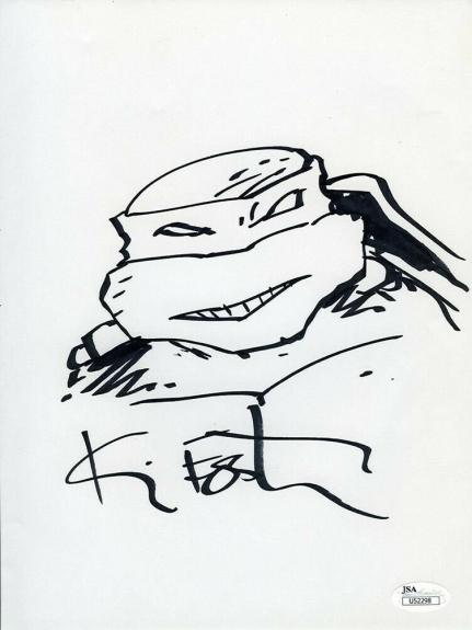Kevin Eastman Teenage Mutant Ninja Turtles Autographed Signed Sketch JSA COA