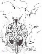 Kevin Eastman Teenage Mutant Ninja Turtles Splinter Signed Drawing PSA/DNA COA
