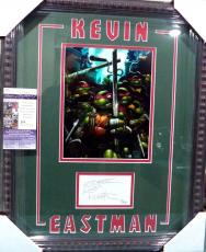Kevin Eastman Tmnt Jsa Coa Signed Autographed Sketch Double Matted & Framed Rare