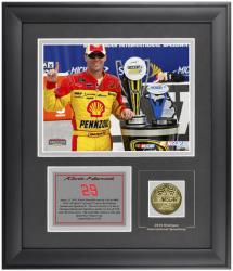Kevin Harvick 2010 Michigan International Speedway CARFAX 400 Winner Framed Photograph with Engraved Plate and Gold Coin - Limited Edition of 329 - Mounted Memories