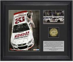 Kevin Harvick 2013 Toyota Owners 400 Race Winner Framed 2-Photo Collage with Gold Coin & Plate-Limited Edition of 329 - Mounted Memories