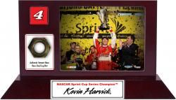 Kevin Harvick 2014 NASCAR Sprint Cup Series Champion Desk Top Collectible With Stewart Haas Race Used Lug Nut