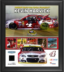 Kevin Harvick 2014 NASCAR Sprint Cup Series Champion Framed Collage With Race Used Tire Limited Edition of 500
