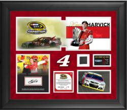 Kevin Harvick 2014 NASCAR Sprint Cup Series Champion Autographed Deluxe Framed 20'' x 24'' Photo Collage With Race Used Tire-Limited Edition 104