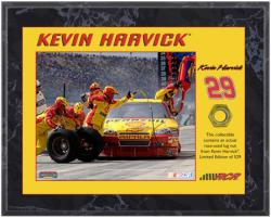 Kevin Harvick 2010 Race-Used Lug Nut 8'' x 10'' Plaque - Limited Edition of 529 - Mounted Memories