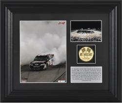 Kevin Harvick 2011 Richmond International Raceway Framed 6''x 8'' Photo with Gold Coin & Plate - Mounted Memories