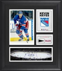 """Kevin Hayes New York Rangers Framed 15"""" x 17"""" Collage with Piece of Game-Used Puck"""