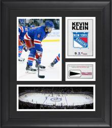 """Kevin Klein New York Rangers Framed 15"""" x 17"""" Collage with Piece of Game-Used Puck"""